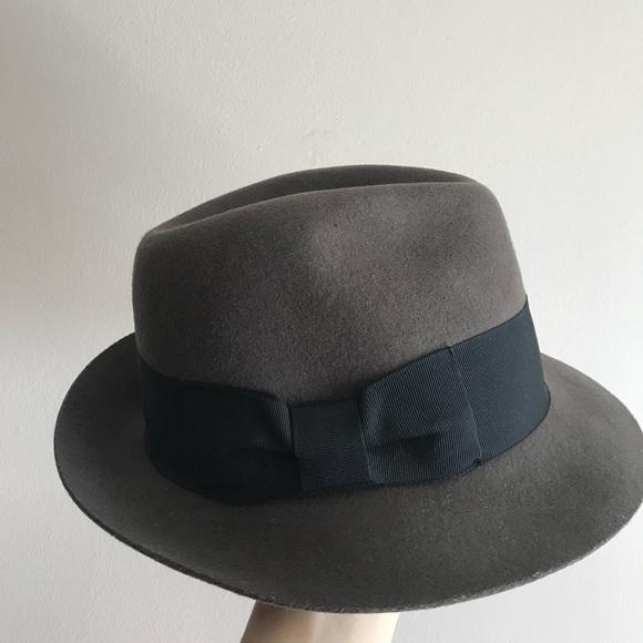 Biltmore x Madewell Grey Black Ribbon Felt Fedora 1b7e5e0efd4d
